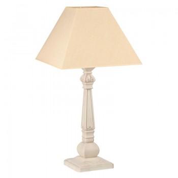 Лампа настольная Бернар бежевый дуб с коричневой патиной