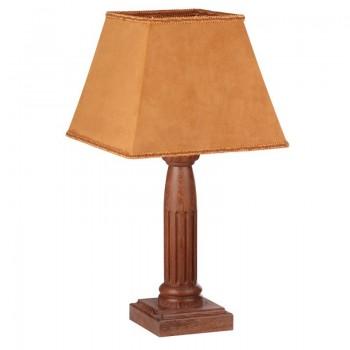 Лампа настольная Этна коричневый дуб с белой патиной