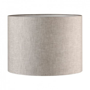 Абажур D400xH300 для настольной лампы из льна, цвет светло-серый