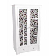 Шкаф 2-х дверный Бейли со стеклянными дверями