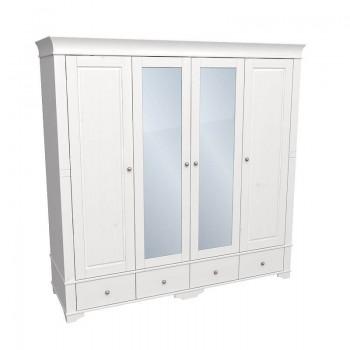 Шкаф 4-х дверный Бейли с зеркалом