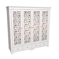 Шкаф 4-дверный Бейли со стеклянными дверями