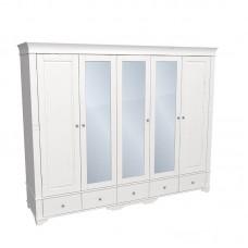 Шкаф 5-и дверный Бейли с 3-я зеркальными дверями