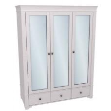 Шкаф 3-х дверный Бейли с зеркальными дверями