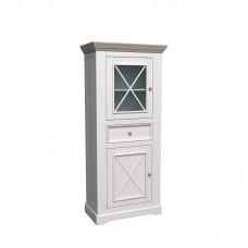 Шкаф для посуды Форест низкий 2 двери 1 ящик белый воск/антрацит