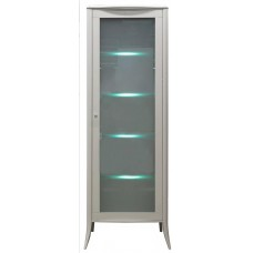Шкаф с витриной Тиффани БМ-2425-01цвет олива