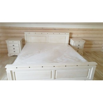 Кровать 2-х спальная Викинг 01 белая (180 х 200)