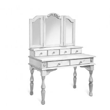 Стол туалетный Викинг GL с зеркалом белый брашированный