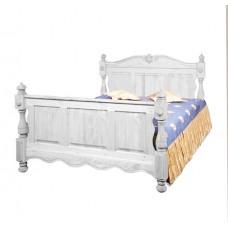 Кровать 2-х спальная Викинг GL белая брашированная