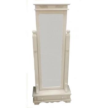 Зеркало напольное Викинг GL белое брашированное