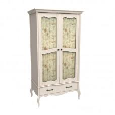 Шкаф 2х дверный ЛеБо со стеклянными дверями бежевый воск