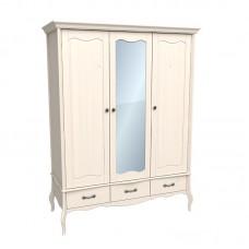 Шкаф 3х дверный с зеркалом ЛеБо бежевый воск