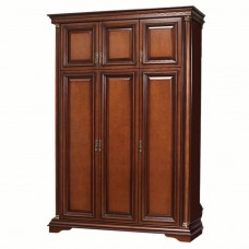 Шкаф 3-х дверный Омега 34-1 (Темный орех)