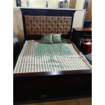 Кровать Омега 30-1 (Темный орех)
