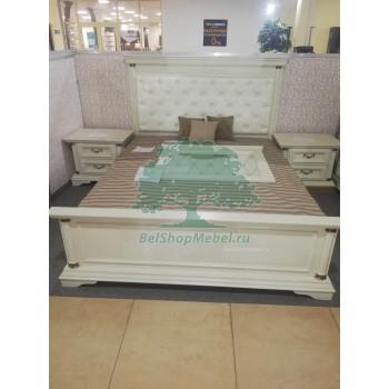 Кровать Омега 30-1 (Слоновая кость)