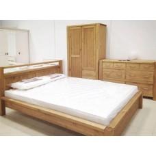 Кровать двуспальная Фьорд 180 бейц