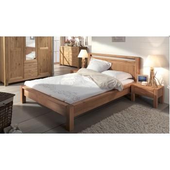 Кровать полуторная Фьорд 140 бейц