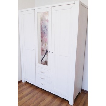 Шкаф 3-х дверный Фьорд 123 белый
