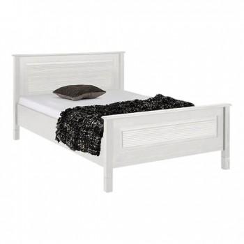 Кровать полуторная Рауна 140 белый воск