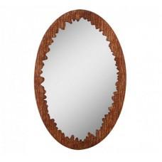 Зеркало круглое в дубовой раме